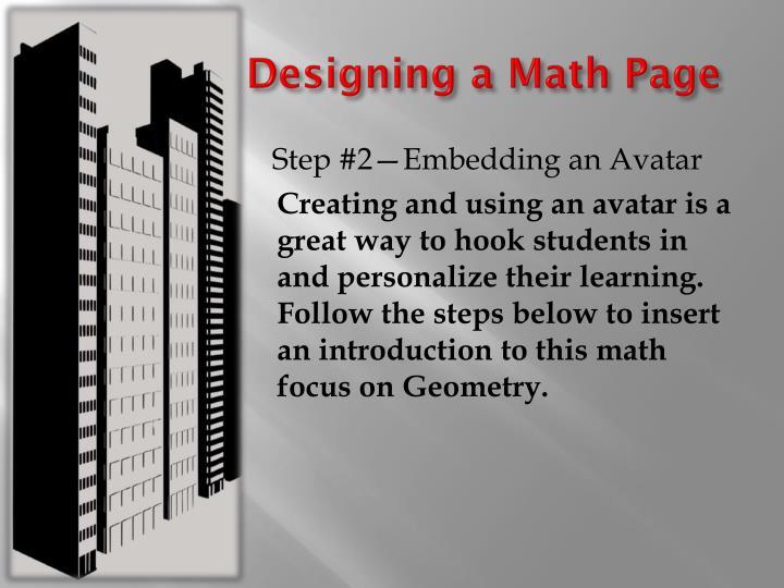 Designing a Math Page