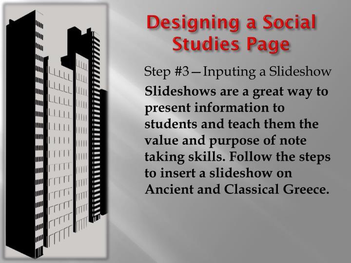 Designing a Social Studies Page