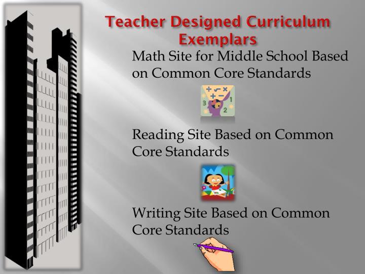 Teacher Designed Curriculum