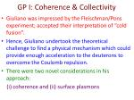 gp i coherence collectivity