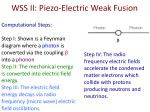 wss ii piezo electric weak fusion