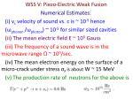 wss v piezo electric weak fusion