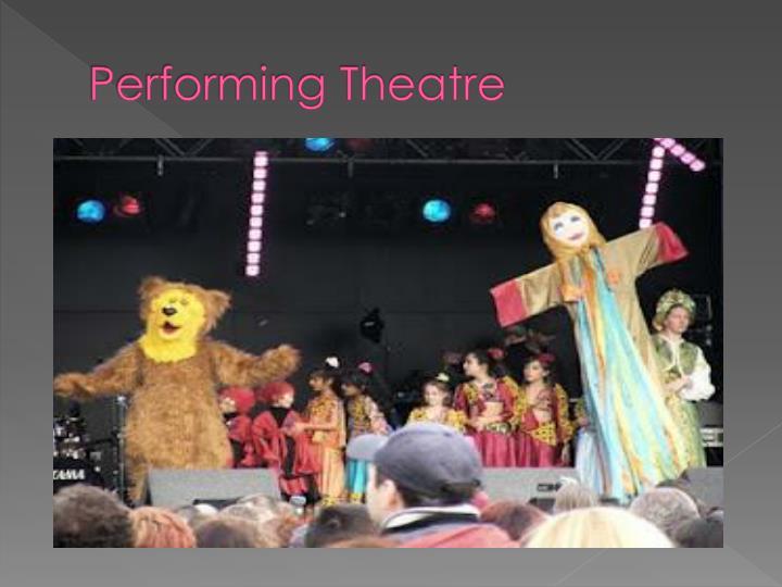 Performing Theatre