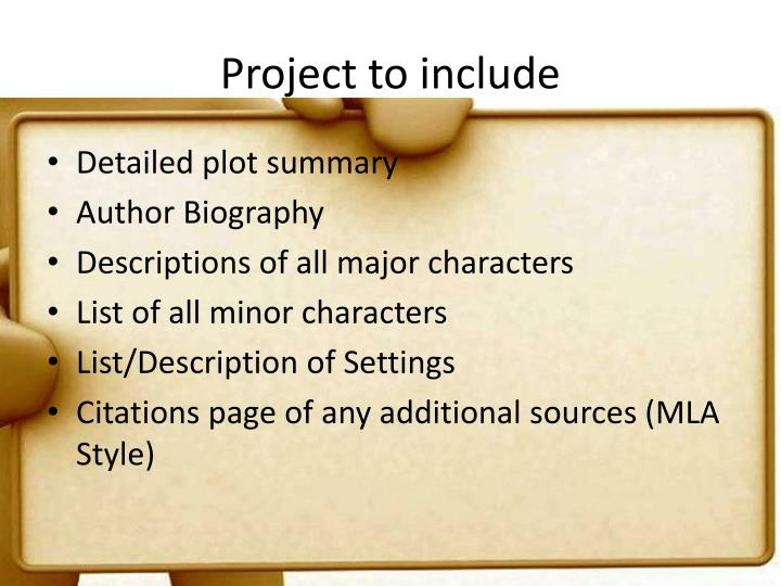 Project to include