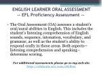 english learner oral assessment efl proficiency assessment