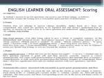 english learner oral assessment scoring