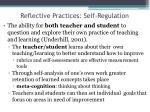 reflective practices self regulation