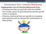 standardized tests criterion referenced2