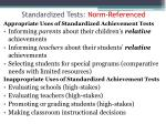 standardized tests norm referenced