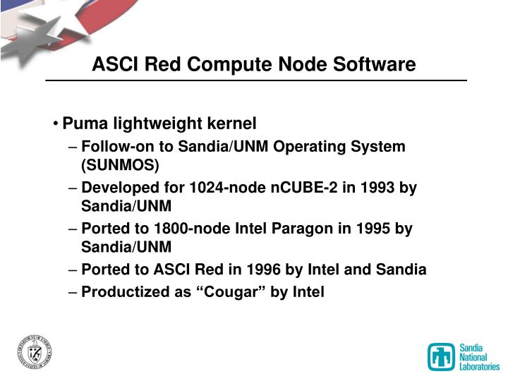ASCI Red Compute Node Software