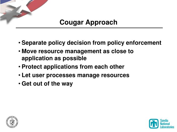 Cougar Approach