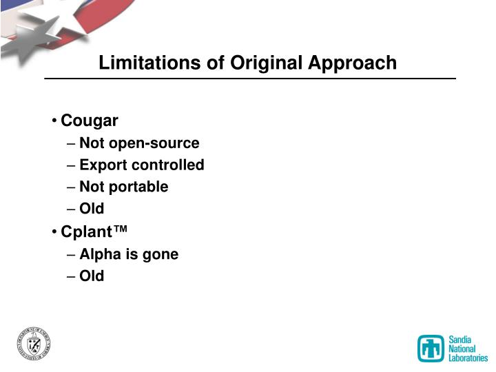 Limitations of Original Approach