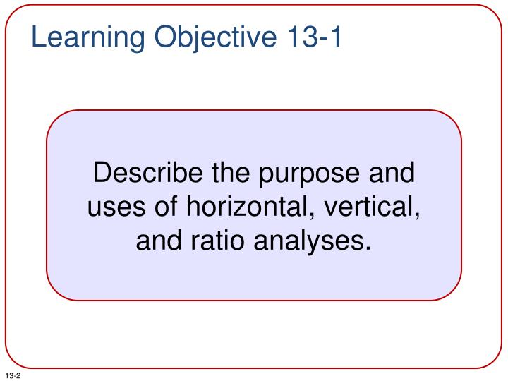 Learning objective 13 1
