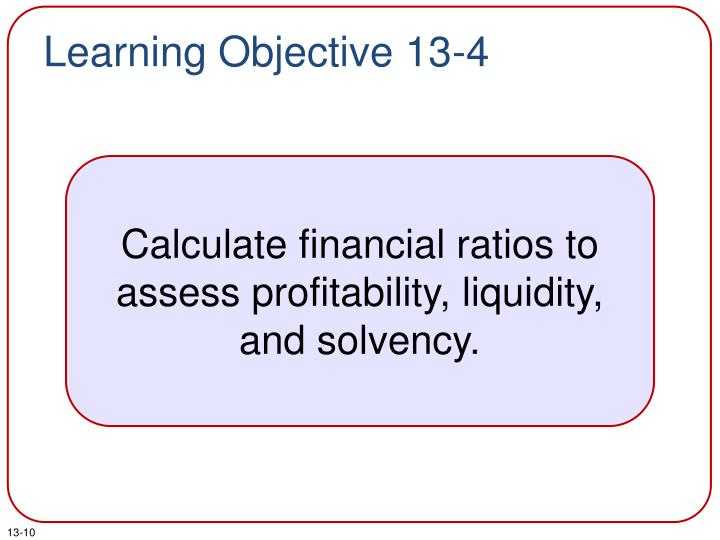 Learning Objective 13-4