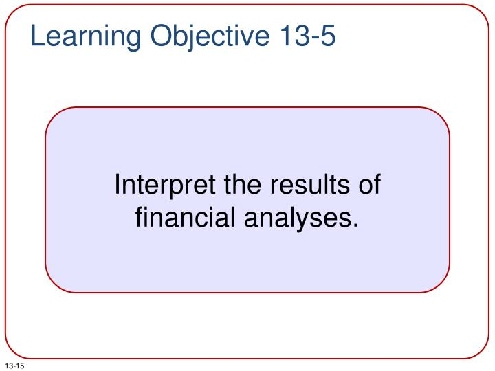 Learning Objective 13-5