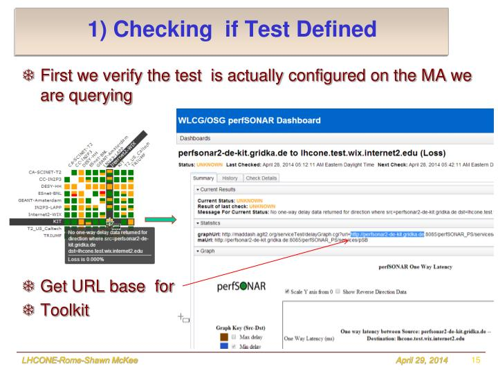 1) Checking  if Test Defined