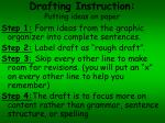 drafting instruction putting ideas on paper