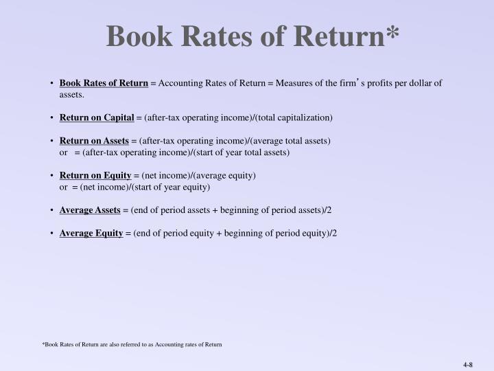 Book Rates of Return*