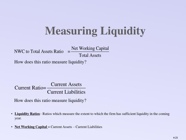 Measuring Liquidity