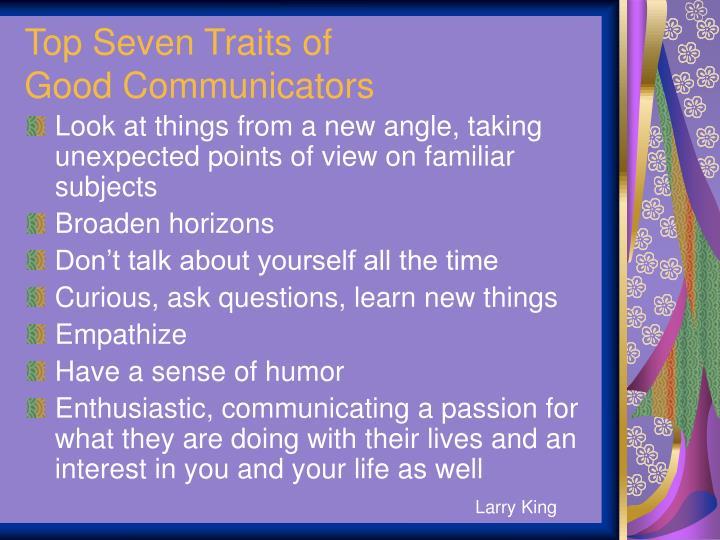 Top Seven Traits of