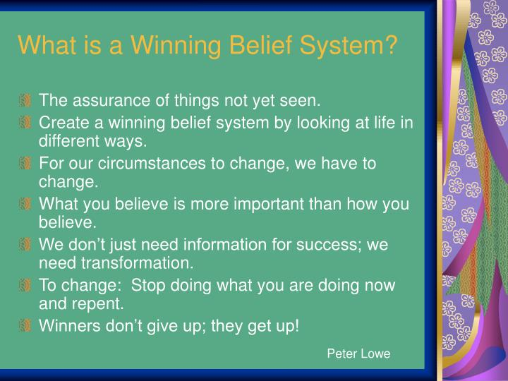 What is a Winning Belief System?