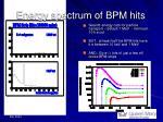 energy spectrum of bpm hits