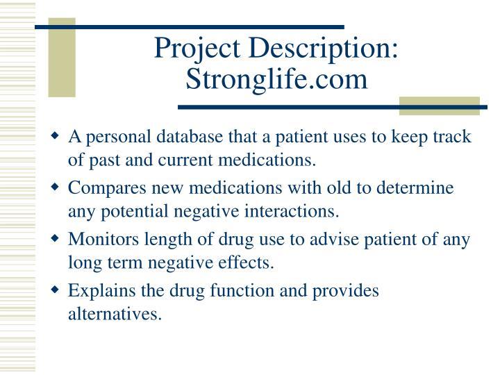 Project description stronglife com