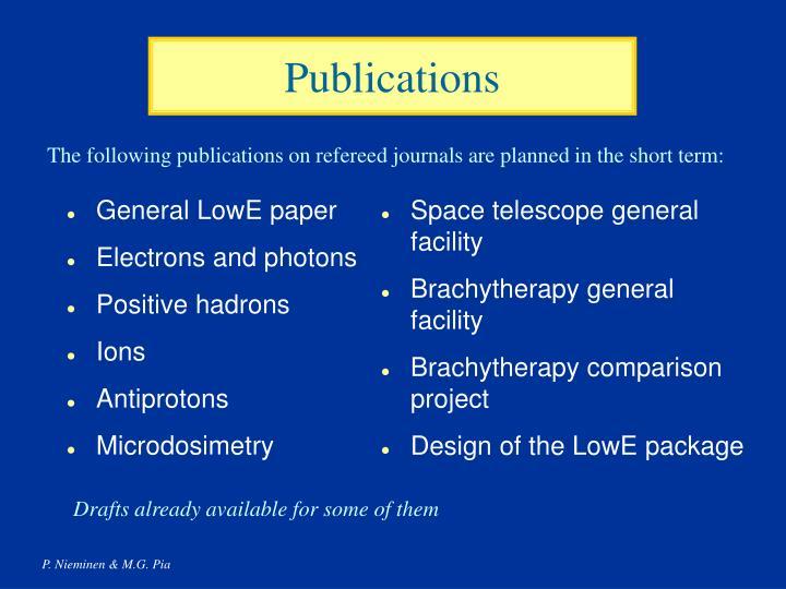 General LowE paper