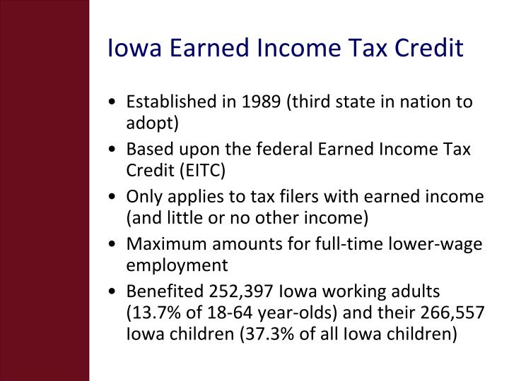 Iowa earned income tax credit