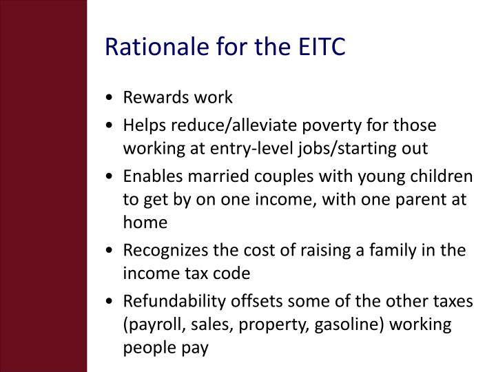 Rationale for the EITC
