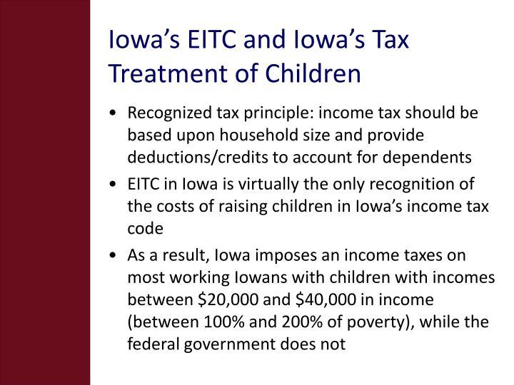 Iowa's EITC and Iowa's Tax Treatment of Children