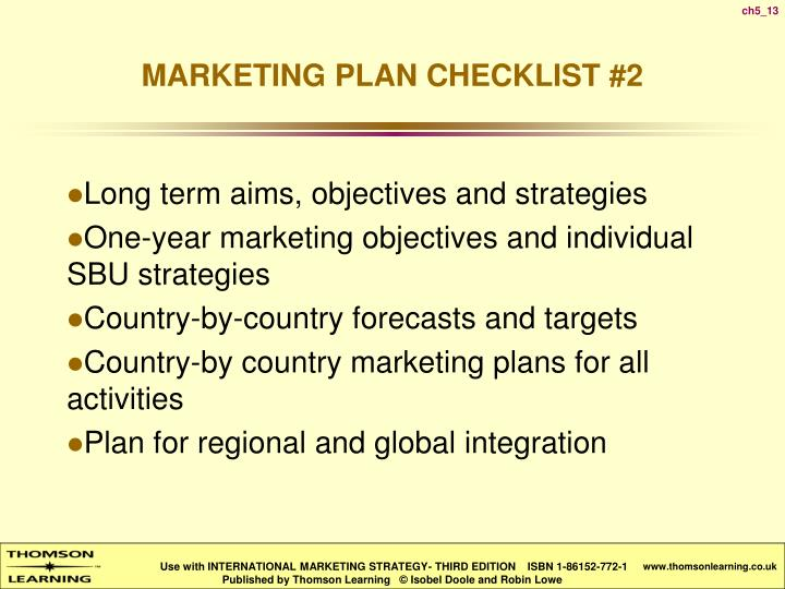 Long term aims, objectives and strategies