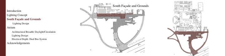 South Façade and Grounds