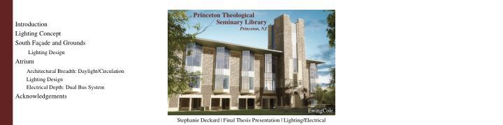 Stephanie deckard final thesis presentation lighting electrical1