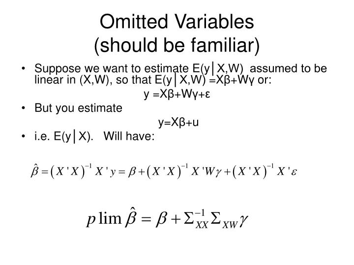 Omitted Variables