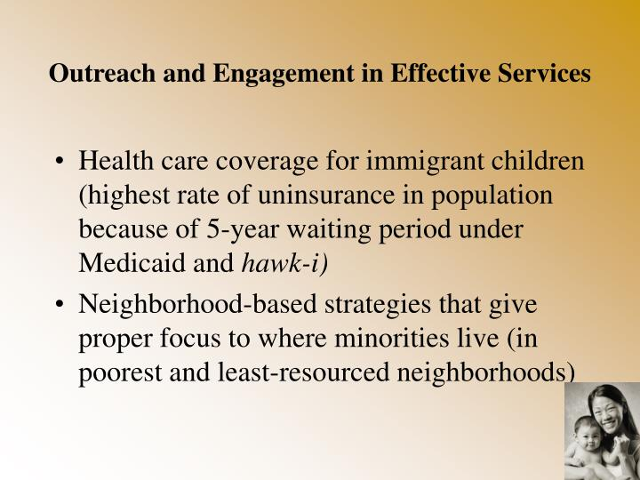 Outreach and Engagement in Effective Services