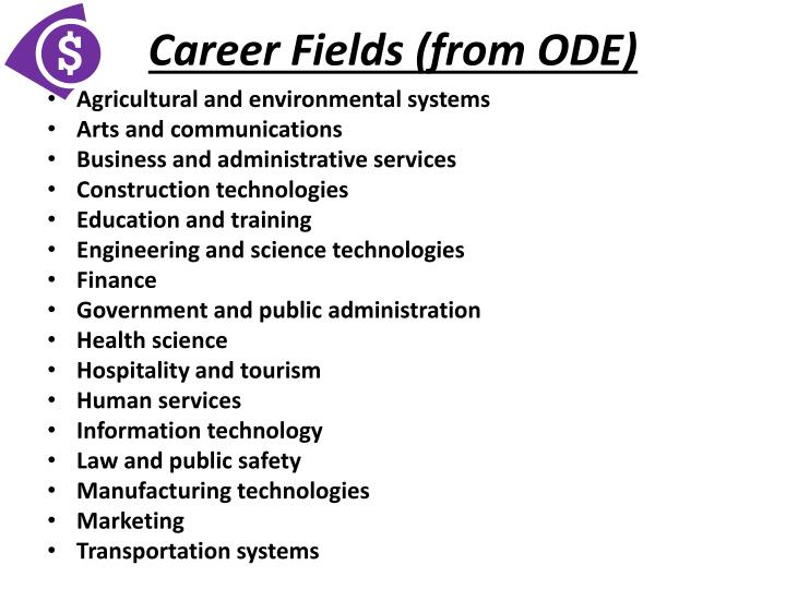 Career Fields (from ODE)