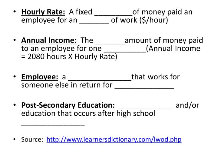 Hourly Rate: