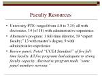 faculty resources