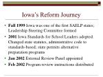 iowa s reform journey
