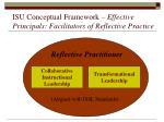 isu conceptual framework effective principals facilitators of reflective practice