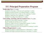 isu principal preparation program