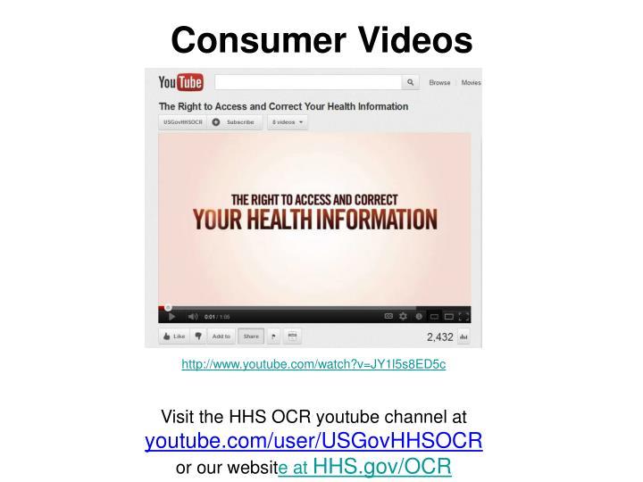 Consumer Videos