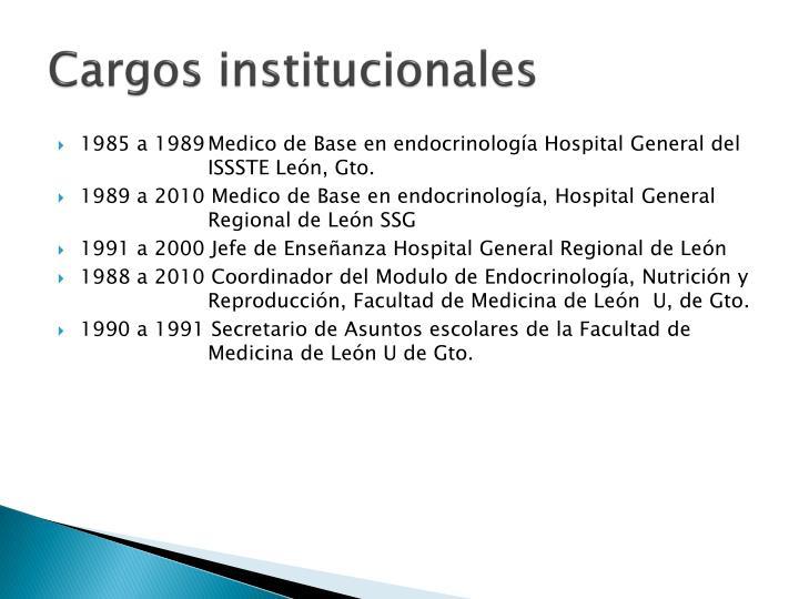 Cargos institucionales