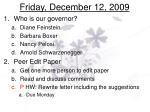 friday december 12 2009