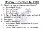 monday december 14 2009