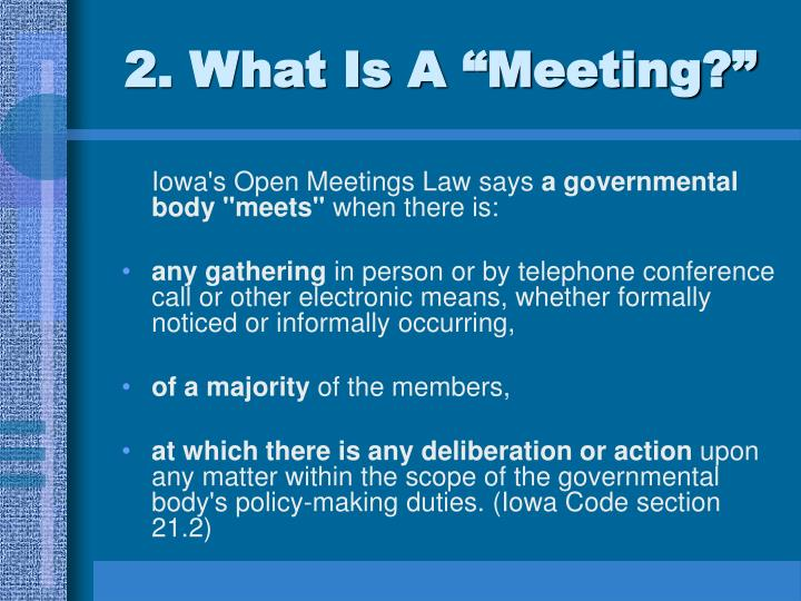 2 what is a meeting