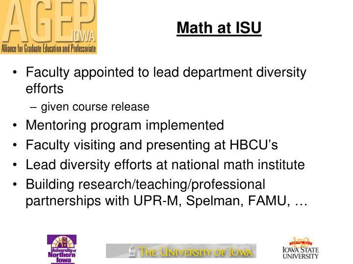 Math at ISU