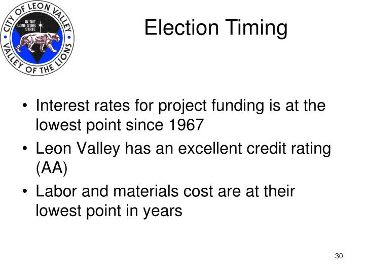 Election Timing