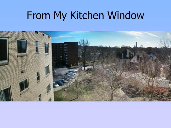 From My Kitchen Window